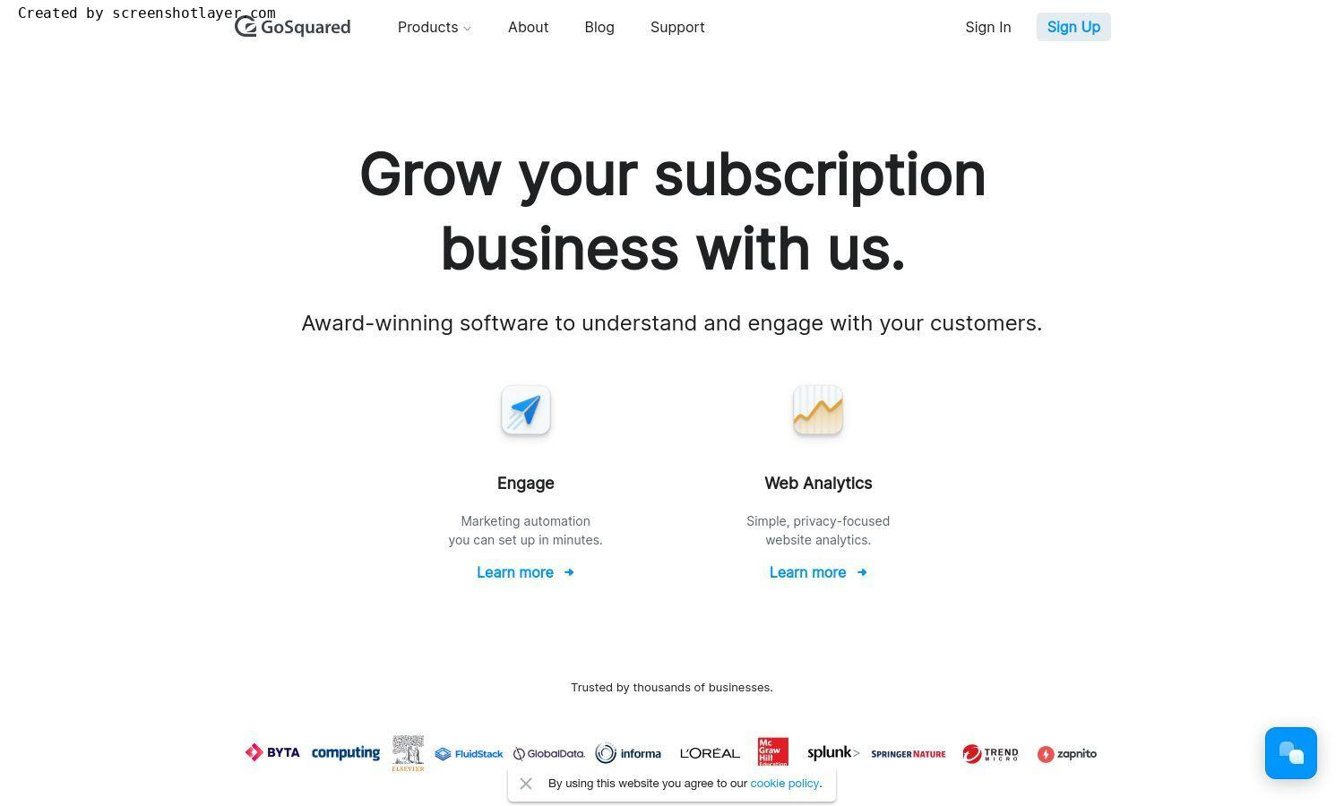Website of GoSquared